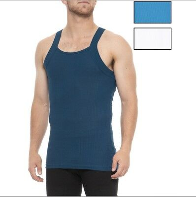 2(x)ist Essential Square-Cut Tank Top - 3-Pack, Cotton Size XL Free Shipping