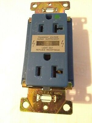 Leviton 8300B Hospital Grd. Transient Voltage Surge Suppressor Duplex Receptacle
