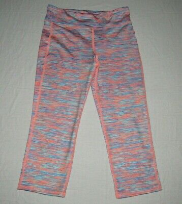 "Old Navy Active Girl's Go-Dry Pink Blue Yoga Pants Youth Size XL Waist 26""-28"""