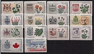 1967 CANADA Centennial Provinces Territories stamp set MINT NEVER HINGED C MNH