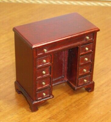 "Mahogany Loveseat MUSEUM QUALITY DOLLHOUSE FURNITURE 1:12 or 1/"" Scale BESPAQ"