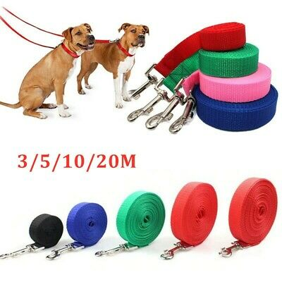 10 20 Metres Extra Long Dog Training Lead Strong Leash Large Recall Line Walking