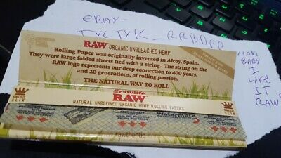 Raw Organic Hemp King Size Slim Rolling Papers (1 Pack/32 Leaves) - USA