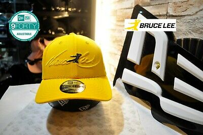 New Era Asia x Bruce Lee Yellow 9Forty Dadhat adjustable hat