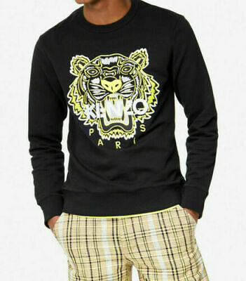 AUTHENTIQUE PULL SWEAT EDITION LIMITEE OR Kenzo DRAGON TIGER Homme Noir NEUF