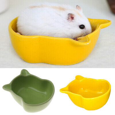 Food Water Bowl Feeder for Crate Cage Coop Hamster Rabbit Bird Yellow/Green