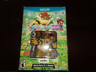 Mario Party 10 W Bowser Amiibo Bundle Nintendo Wii U Ntsc