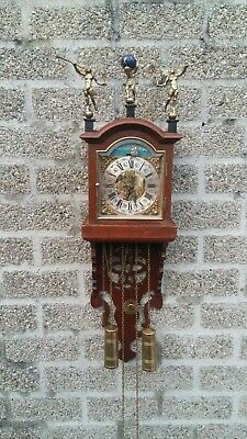 Dutch Wall Clock small fries staart whit boat movement Clock Schippertje FHS