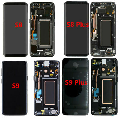 For Samsung Galaxy S8 S8+ S9 S9+ Plus LCD Screen Display Touch Digitizer Frame