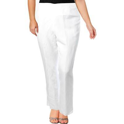 Kasper Womens Audrey White Linen Business Dress Pants Trousers 6 BHFO 4405