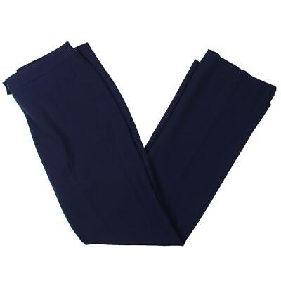 Anne Klein Womens Navy Textured Mid-Rise Dress Pants Trousers 2 BHFO 6062