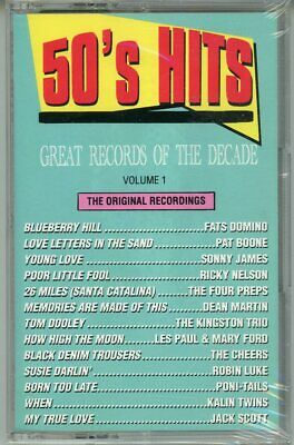New Sealed Cassette Various 1950s Hits Volume 1 Curb Has 6 #1s + 2 #2s! Last One