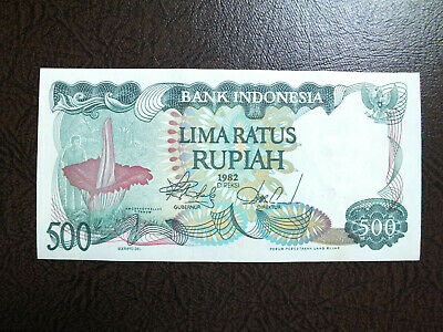 Indonesia 500 Rupiah Unc Banknote.giant Flower 1982.