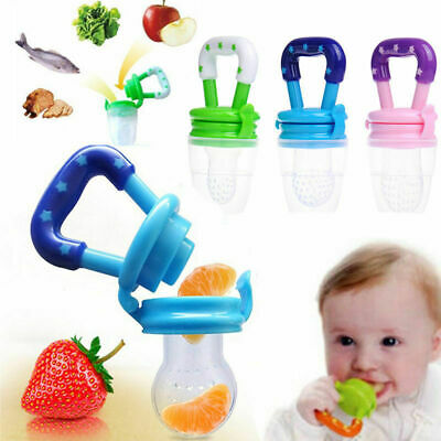 Baby Dummy Feeding Nibbles Weaning Nutrition Pacifier Fresh Fruit Food Feeder X3