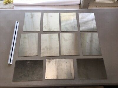 TIG//MIG 304 HHO 7 pcs 14  gauge Stainless steel sheet metal scrap