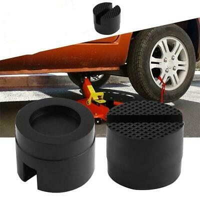 Car Slotted Frame Rail Floor Jack Adapter Lift Rubber Pad Stand Holder