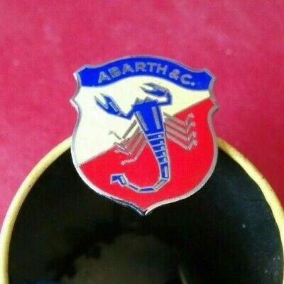 Fiat Abarth 595 850 1000 Zagato Bialbero Badge Stemma Originale Dell'epoca