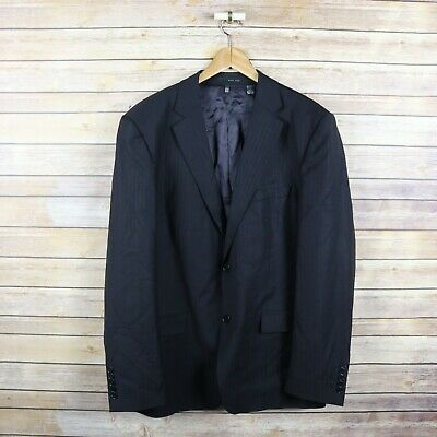 ZARA MAN Men's Wool Blend Two Button Blazer SIZE 44 Black