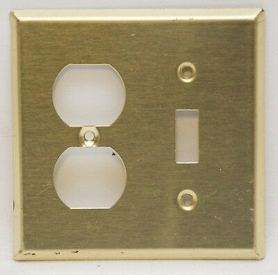 Vintage Polished Solid Brass Electric Wall Switch and Outlet Covers