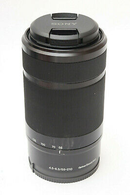 SONY SEL55210/B 55-210mm f/4.5-6.3 Aspherical IS OSS Lens (Black), with caps, Ex