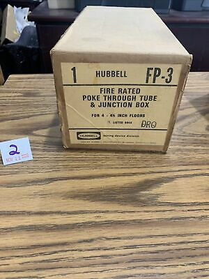 NEW Hubbell FP-3 Fire Rated Poke Through Tube And Junction Box