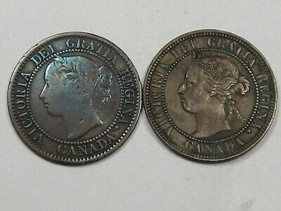 2 Better Date VF/XF Canadian Large Cents: 1859 & 1900.  #30