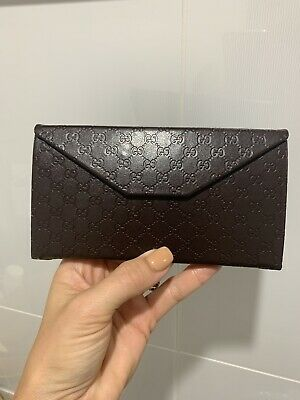 New Gucci Guccissima Folding Leather Large Glasses Case