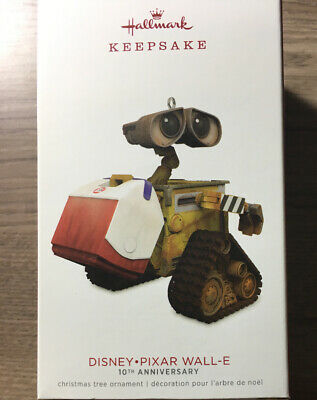 Hallmark 2018 Keepsake Ornament Disney Pixar Wall-E  10th Anniversary Wall E