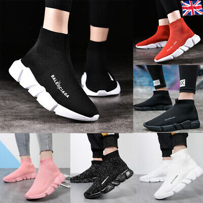 Womens Designer Style Knit Speed Sock Runner Shoes Mens Trainers Sneakers Flat