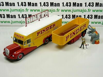 Kitchen+Trailer Case Bundle 1//43 Circus Pinder IXO Ringmaster And Elephant