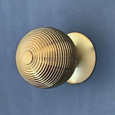 Large Brass Front Door Center Knob Handle Centre Plate Grab Pull Letter Knocker