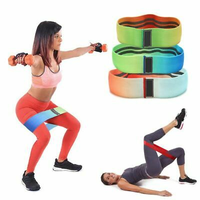 New Hip Band Circle Loop Rotation Glute Resistance Thrust Leg Squat Gym Exercise