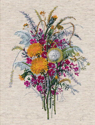 "/""Nigella bouquet/"" Counted Cross Stitch Kit OVEN 1282"