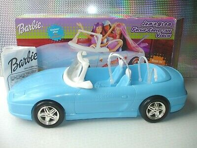 Barbie 2001 Jam 'n Glam Rockin Convertible Baby Blue Sports Car Vehicle