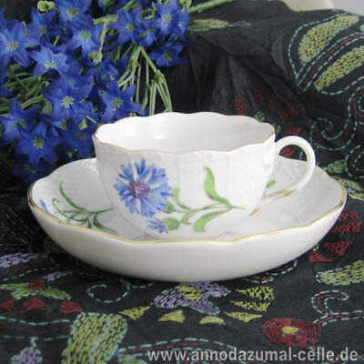 Meissen Mocha Cup Porcelain with Corn Flower Motif