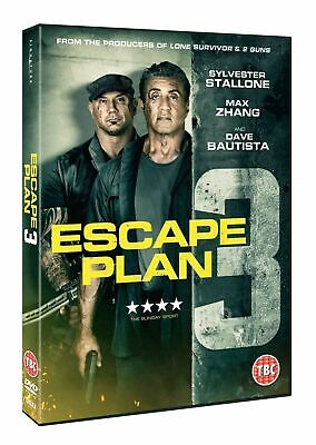 Escape Plan 3 [DVD] Sly Stallone (Rambo Rocky) Dave Bautista (Marvel) Movie NEW