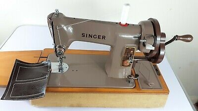 Semi-Industrial Singer 185K Handcrank Sewing Machine,NEWLY SERVICED,sews LEATHER