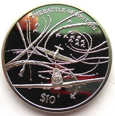 Sierra Leone 2005 Battle of Britain 10 Dollars Silver Coin,Proof