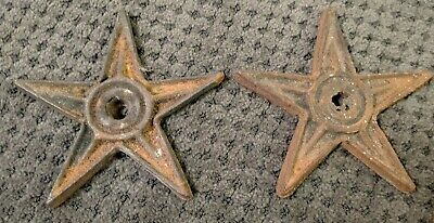 """Vintage Cast Iron Architectural Star 6 5/8"""" Rusty Barn"""
