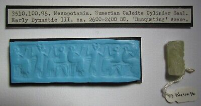 Sumerian Early Dynastic III period cylinder seal, 2600 -2400 BC