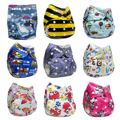 Reusable Modern Nappy Cloth Washable Baby Diaper Adjustable Pocket Cover 0-2yrs