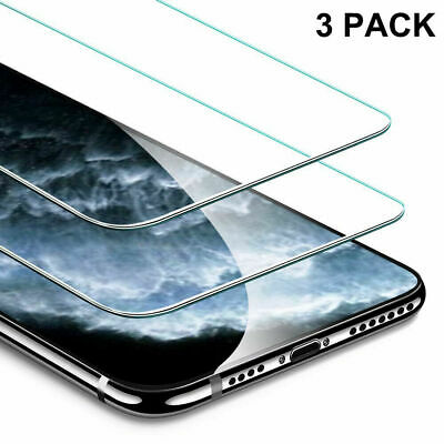 3X Tempered Glass Screen Protector Film Cover For iPhone 11/11 Pro/11 Pro Max