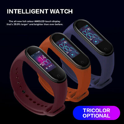 Bluetooth 5.0 Xiaomi Mi Band 4 Smart Watch Sport Armband Sportuhr Pulsmesser TOP