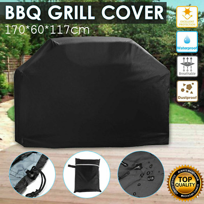 170cm Extra Large BBQ Cover Outdoor Waterproof Garden Barbecue Grill Protector
