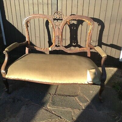 Antique victorian 2 seater settee