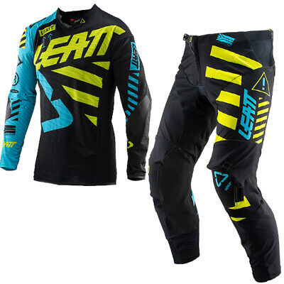 Leatt Gpx 5.5 Black Lime Motocross Kit Combo