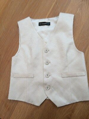 Autograph by M & S Boy Cream Satin Waistcoat Formal special Occasion Age 4/5 New