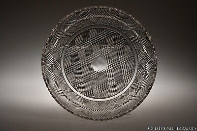 "c. 1840 - 1850 PLACID PLATE by Fort Pitt / Curling? FLINT COLORLESS 7 5/8"" W"