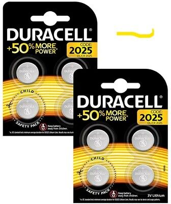 Duracell Specialty 2025 Lithium Coin Battery 3 V, (DL2025/CR2025) Pack of 4