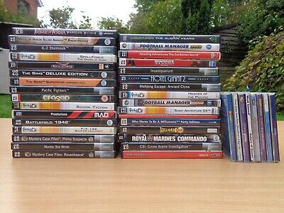 HUGE BUNDLE/JOBLOT of x40 PC CD ROM GAMES (incl. Lego, Rayman, etc)